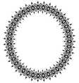 Black oval frame vector image