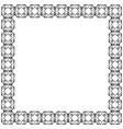 decorative frame square shape black geometric vector image