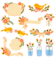 floral decorations vector image