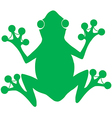 Green Frog Silhouette Logo vector image