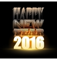 Happy New Year 2016 Holiday background with 3d vector image