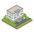 Hospital Building City Hospital Isometric vector image