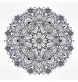 Ornate paisley round lace mandala vector image