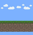 pixel art texture - bright day blue sky vector image