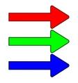 Set color arrows 1707 vector image