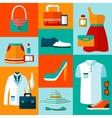 Shopping fashion design elements vector image