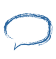 Speech Bubble Brushed vector image