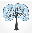 white leaf tree vector image