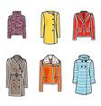 Women coats vector image vector image