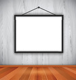 blank picture frame on wall 0710 vector image