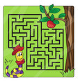 Labyrinth maze for kids entry and exit - help vector image