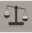 business scales vector image vector image