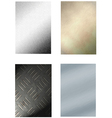 4 metal backgrounds vector image
