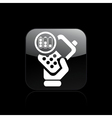 battery phone icon vector image vector image