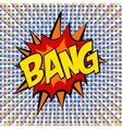 retro cartoon explosion pop art comic set vector image