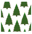 colorful background with pattern of christmas tree vector image