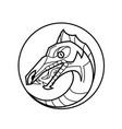 decorative dragon head vector image