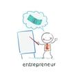 entrepreneur a presentation vector image