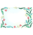 floral frame with pink spring flowers tulips posy vector image