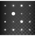 Glowing light effect stars bursts vector image