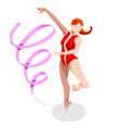Gymnastics Ribbon 2016 Sports 3D vector image