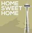 Home Sweet Home Seattle vector image