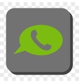 Phone Message Rounded Square Button vector image