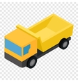Truck isometric 3d icon vector image