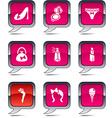Women balloon icons vector image