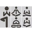 yoga icons vector image