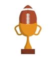 american football balloon isolated icon vector image