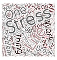 Stress Relief Advice text background wordcloud vector image