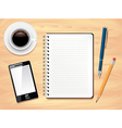 office desk notes background vector image