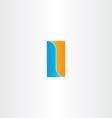 Double letter l logo design vector image