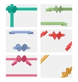 Bow Banners Set vector image