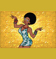african american woman disco dancer vector image