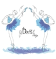 Ballet Dancer drawing in watercolor style vector image