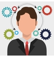 Business people work graphic vector image