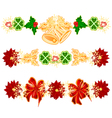Christmas decoration garlands with bells vector image