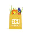 go green paper eco food bag vector image
