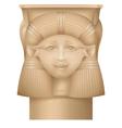 Hathor column ancient egypt capital vector image
