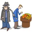 thief stealing wallet cartoon vector image