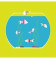 monochrome icon with aquarium vector image