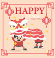 Happy Chinese New Year celebration lion dance 2017 vector image