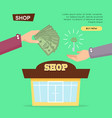 buying shop online property selling web banner vector image
