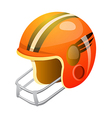icon football helmet vector image vector image