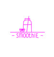 Pink smoothie - hand drawn brush text badge vector image