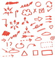 Set of hand drawn arrows vector image vector image