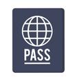 blue passport icon vector image