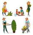 Gardening hobby icon set vector image